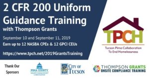 TRAINING: THOMPSON GRANTS 2 CFR 200 UNIFORM GUIDANCE (REGISTRATION REQUIRED) @ Community Foundation for Southern Arizona - Community Campus