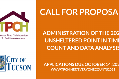 Call for Proposals Feature Image: 2021 Point in Time Count Administration