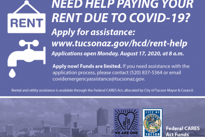 City of Tucson offers rental assistance.