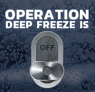 Operation Deep Freeze Is Off