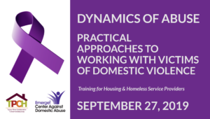 Training: Dynamics of Abuse - Practical Approaches for Working with Victims of Domestic Violence (Registration Required) @ Tucson Police Department - Westside Service Center